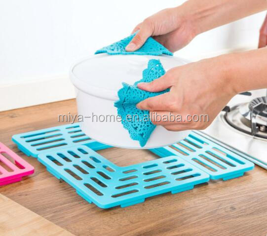 Plastic tableware pad / sink drain filter mat / cup shelf rack multifunction kitchen tools