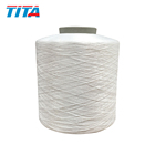 Dope dyed black polyester fdy 100/36 600tpm twisted warp yarn in china