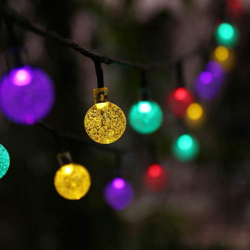 Holiday decor string lights colorful globe bulb Led outdoor fairy light