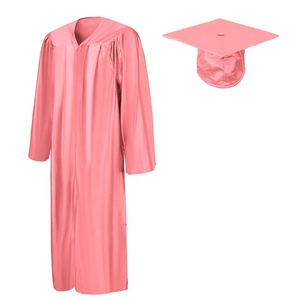 Pink Disposable Child Graduation Caps and Gowns