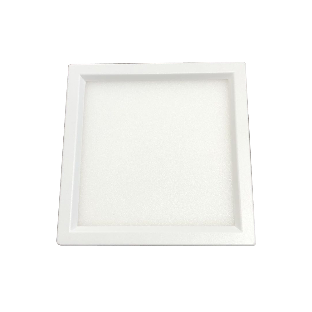 USA free shipping ETL led flush mount ceiling lights surface mounted square panel light CCT tunable different colour trim rings