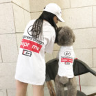 luxury Pet T-shirt pure cotton spring and summer Parent-child Dog Clothes popular logo
