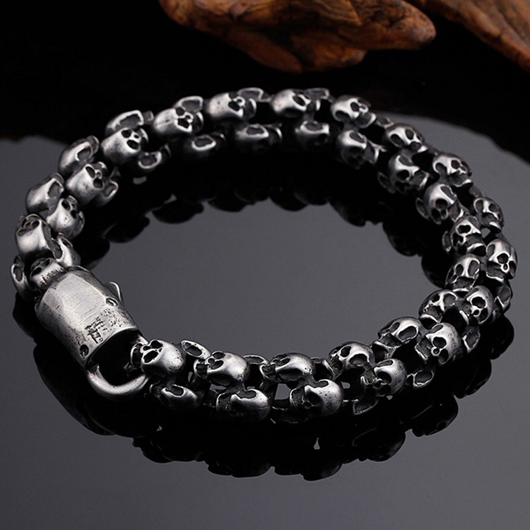 Wholesale cheap silver black european bead bracelet