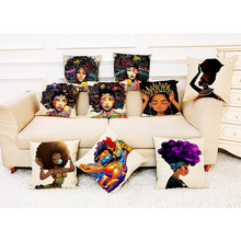 WoYing femmes africaines Style imprimé <span class=keywords><strong>coussin</strong></span> décor à la maison <span class=keywords><strong>housse</strong></span> <span class=keywords><strong>de</strong></span> <span class=keywords><strong>coussin</strong></span> femmes africaines taie d'oreiller jeter des housses <span class=keywords><strong>de</strong></span> <span class=keywords><strong>coussin</strong></span>