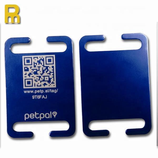 New cheap custom logo qr code dog collar id tag for pets