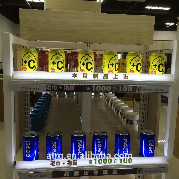 12V DC waterproof LED shelf uplights for retail gondola shelf