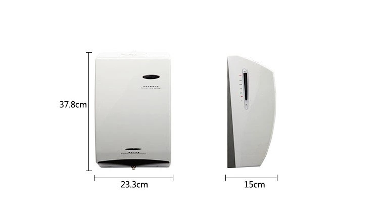 Hospital fancy wall mounted automatic electric alcohol spray hand sterilizer sanitizer dispenser