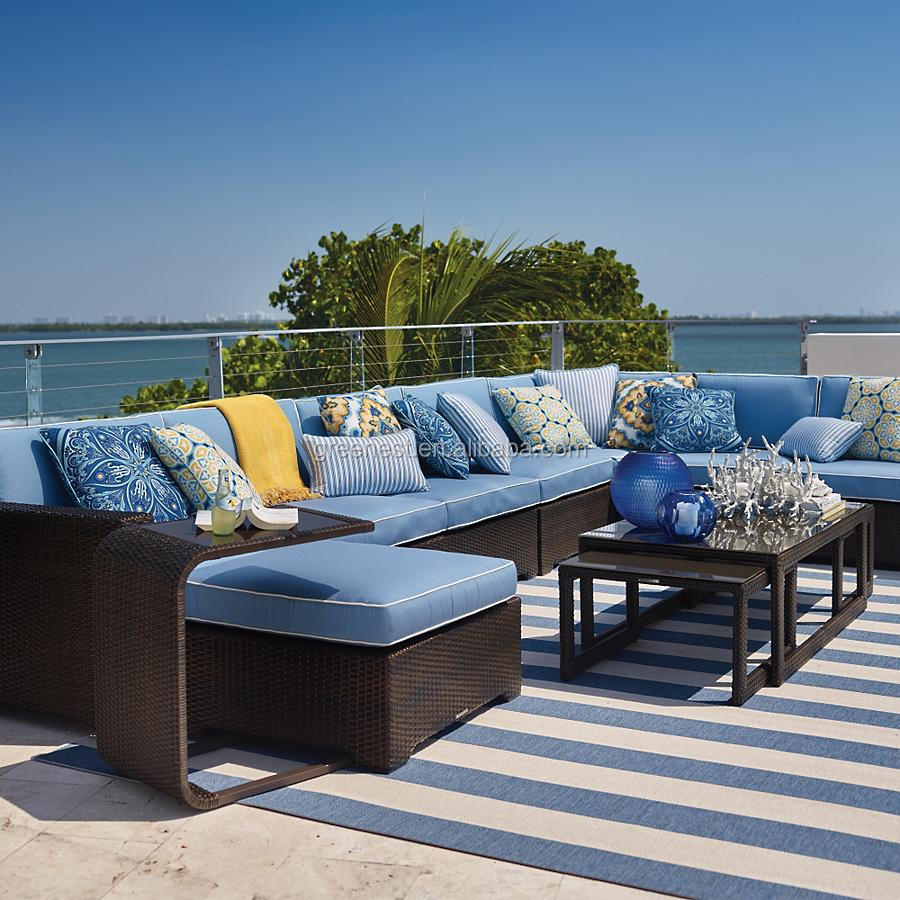 royal outdoor leisure living furniture l shaped sofa set
