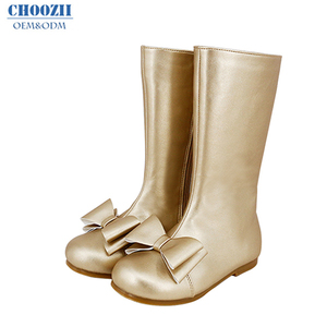 Choozii Winter Long Leather Boots Western Children Boots for Girls