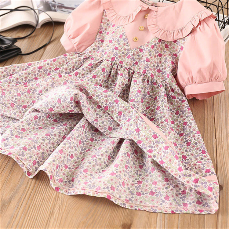 Casual  baby frocks cute latest cotton new design good quality baby good price girl dress China