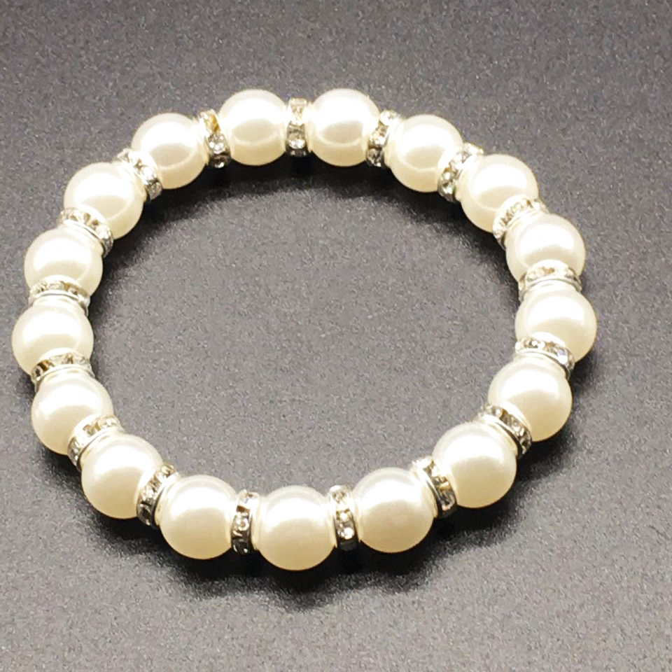 Factory direct fashion pearl bracelet elastic custom bracelet jewelry