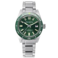 Часы San Martin 62MAS Diver, автоматические мужские механические часы из нержавеющей стали, водонепроницаемые светящиеся спортивные часы 200 м, 2019(Китай)