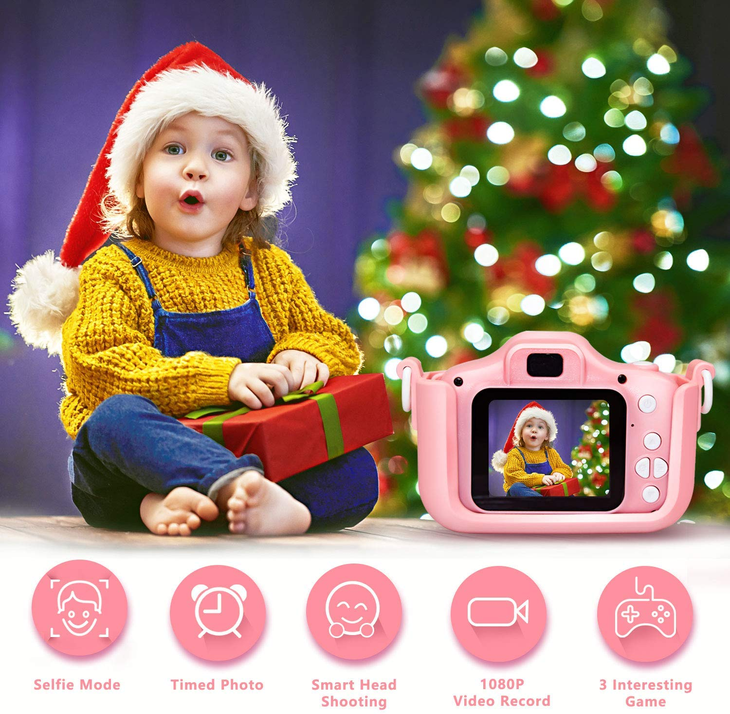 2 inch HD screen   digital kids children video camera with photos and videos functions