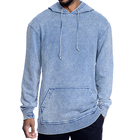 China supplier mens oversized lightweight denim blue acid wash hoodie