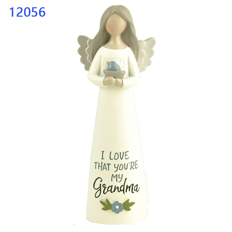 "Angel Statue Gifts & Crafts ""YOU ARE BLESSED"" ANGEL WITH STAR GIRL WITH BIRD Statuette For Home Decore Statues"