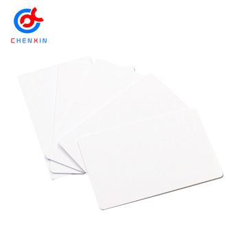 Custom Printable White Rfid Cards ISO 125khz TK4100 Custom ID Card