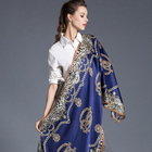 100% silk crepe satin scarf shawl European turkish women fashion silk scarves and shawls 70x180