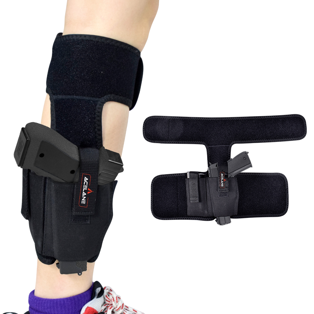 Adjustable <strong>Leg</strong> Ankle Gun <strong>Holster</strong> for Concealed Carry with Calf Strap for Men Women
