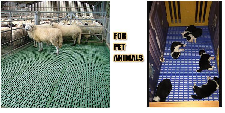 Premium kleine anti-slip plastic vochtwerende slat pig geit eend kip vel gevogelte vleeskuikens mat pallet floor
