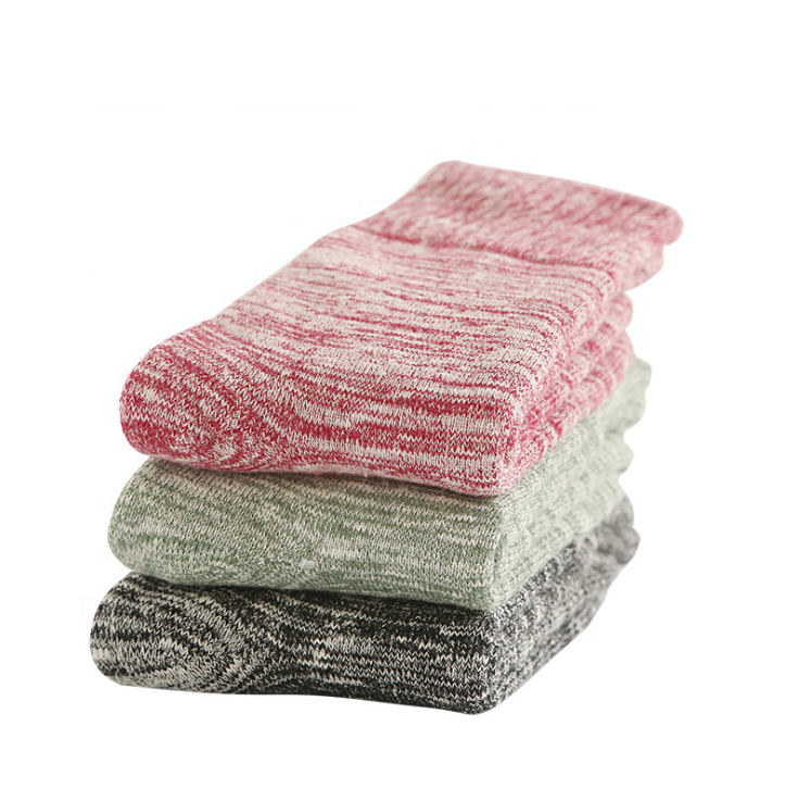 Retro Style Winter Thick Knit Warm Wool Casual Soft Cozy Crew Socks