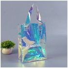 Custom holographic tote fashion style shoulder shopping laser pvc bag