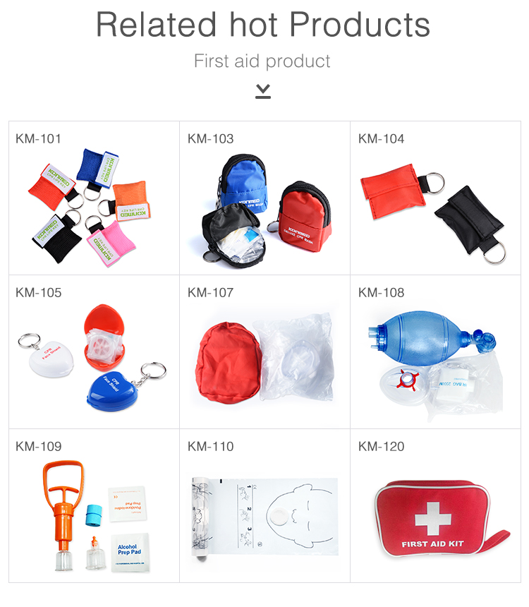 Medical Consumables For First Aid Training Adult/Child/Infant CPR Keychain Mask