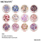 Flower Nail Stickers Sticker Glitter Nail Art Decoration MCMANN Colorful FLower And Animal 3D Nail Art Stickers Accessories Women Jewelry Butterfly Sticker For Nail Decorations