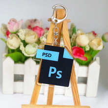 Милый офисный программный значок брелок двусторонний брелок PS Ai Excel акриловая сумка Подвески и кулоны, аксессуары кольцо для ключей K0152(Китай)
