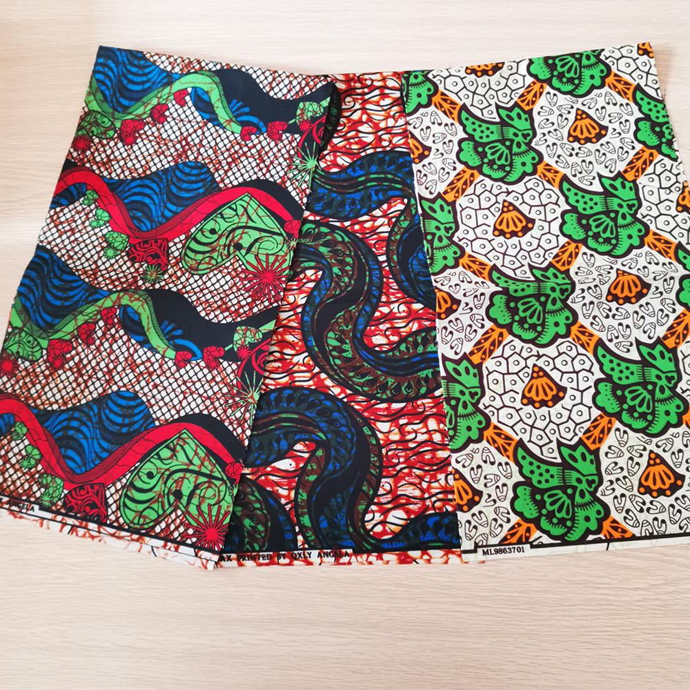 African fabrics Polyester wax print fabric