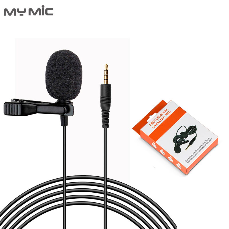 New arrival LJ03 Omnidirectional condenser recording studio lavalier microphone mini  lapel mic for smartphone laptop