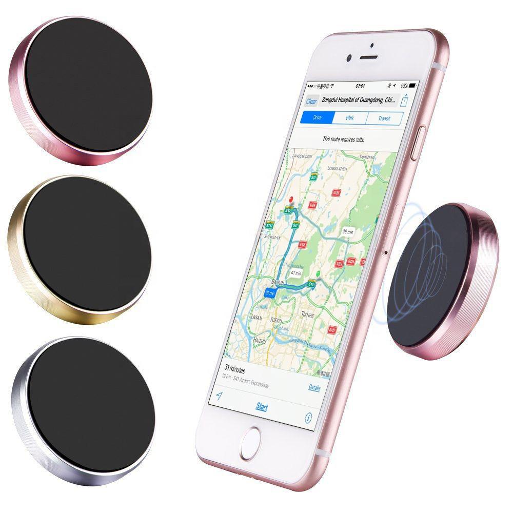 Custom OEM Universal paste metal mini magnetic car mount magnet mobile phone wall key holder for iphone X