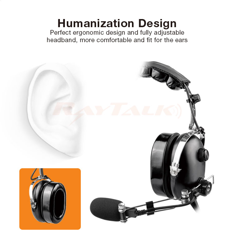 Active Noise Cancelling Aviation Headset ANR Headphones