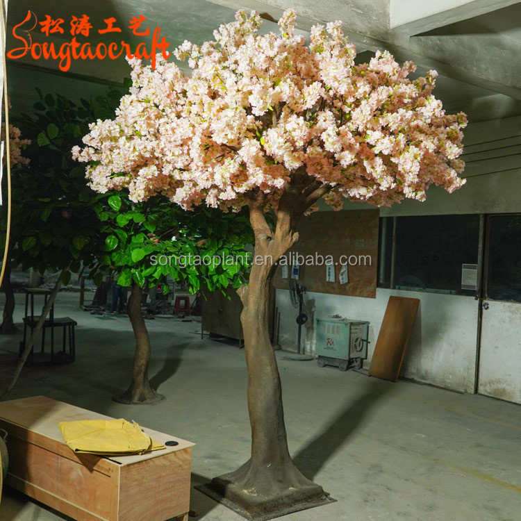 Customize Artificial White Pink Mini Cherry Blossom <strong>Trees</strong> For Indoor Wedding <strong>Tree</strong> Table Centerpiece Decoration