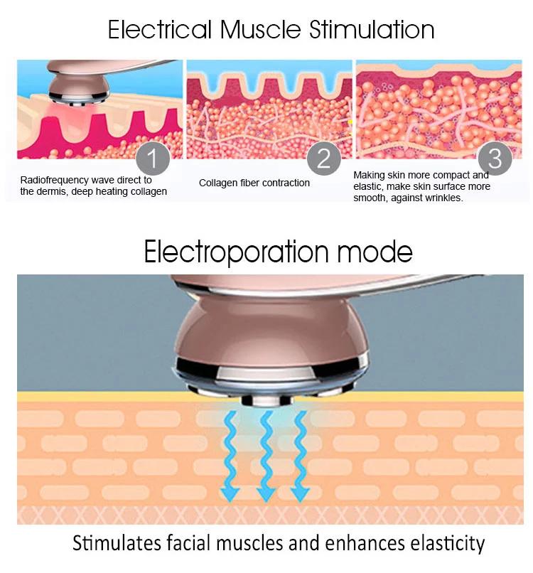 Beaute Wholesale Product 7 in 1 Photonics V face slimming skincare massager mas vendido RF ultrasonic solve skin problem