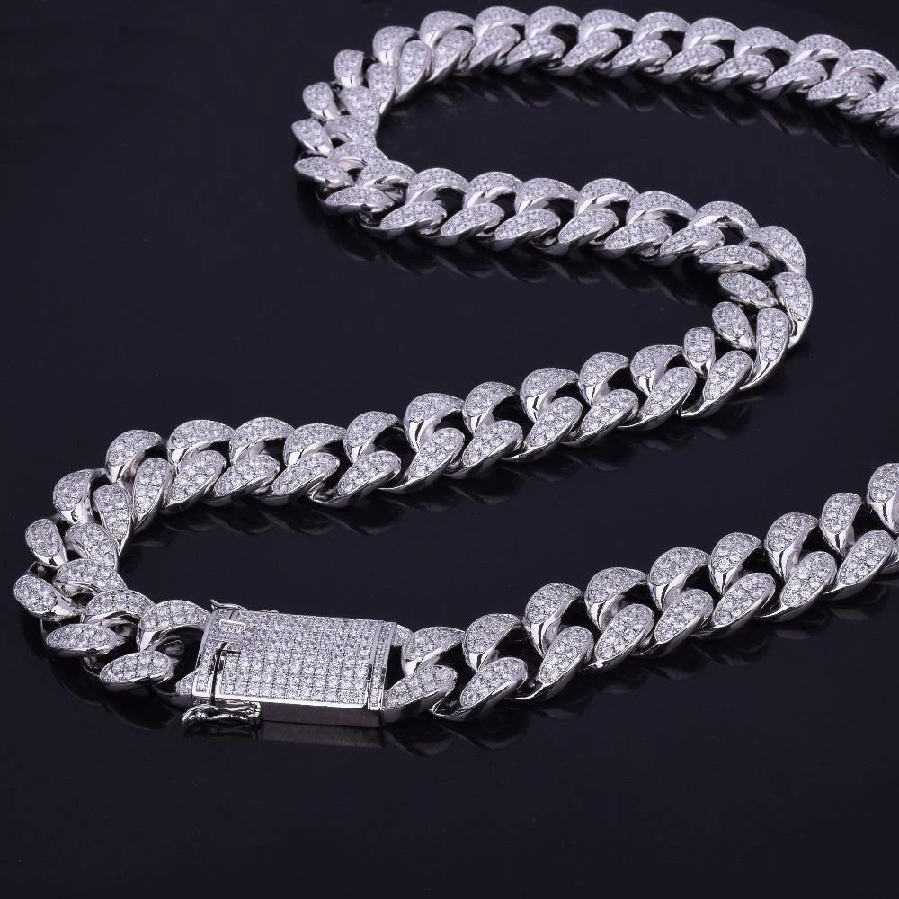 Moissanite Diamond Tennis Necklace in 10 k white gold