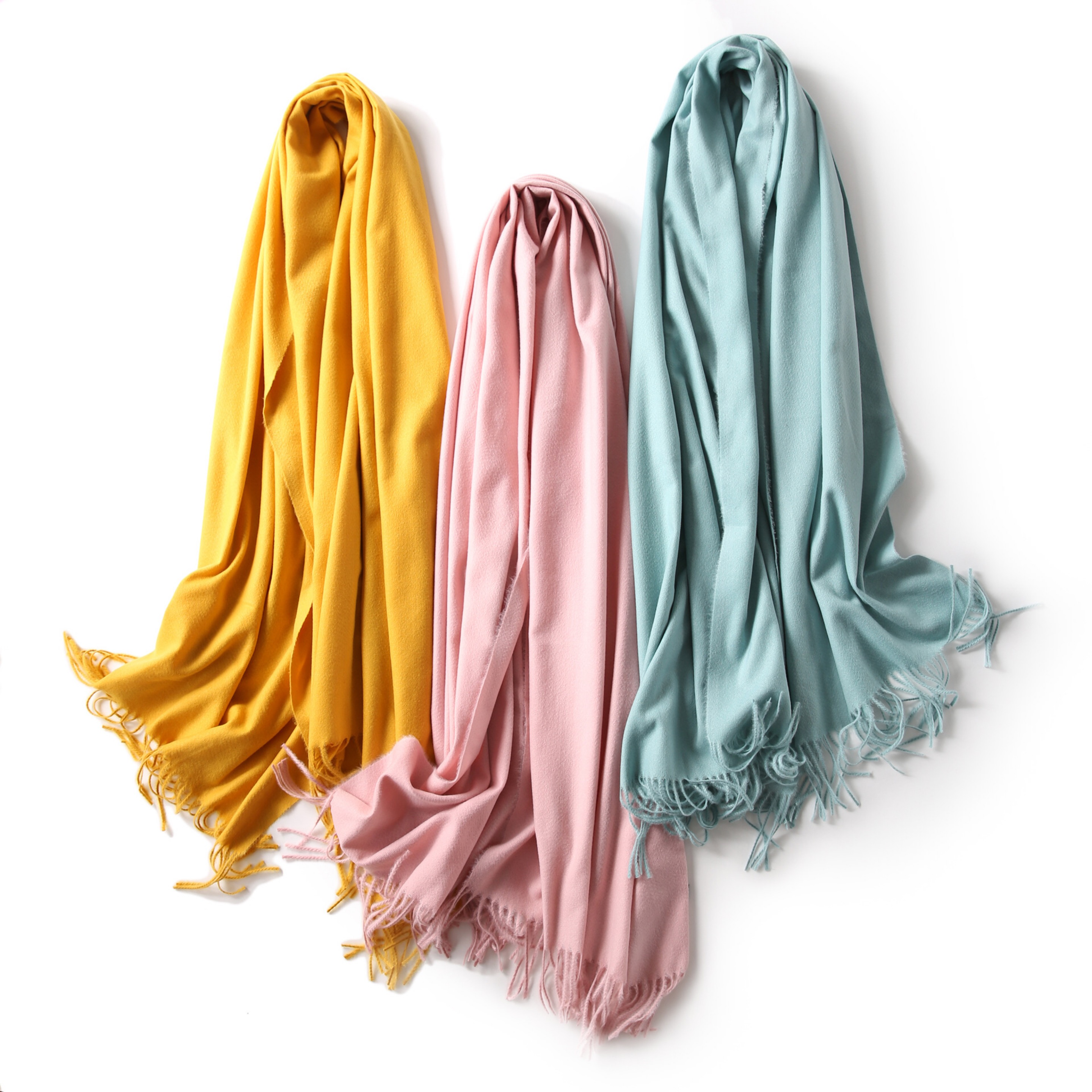 Korean Autumn and Winter New Style Fringed lady's <strong>scarf</strong> Heating Pure Colored <strong>Scarf</strong>