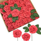 8CM Colorful Artificial Roses Flowers Real Looking Roses PE foam flowers foam roses for Wedding and Party Baby Shower