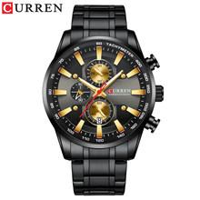 Мужские кварцевые наручные часы CURREN, водонепроницаемые, водонепроницаемые, 30 м, спортивные, 2019(Китай)
