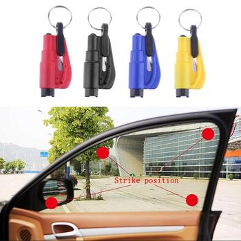 Universal Car Emergency Kit 3 in 1 Mini Safety Hammer Car Window Glass Breaker Seat Belt Rescue Hammer keychain key ring