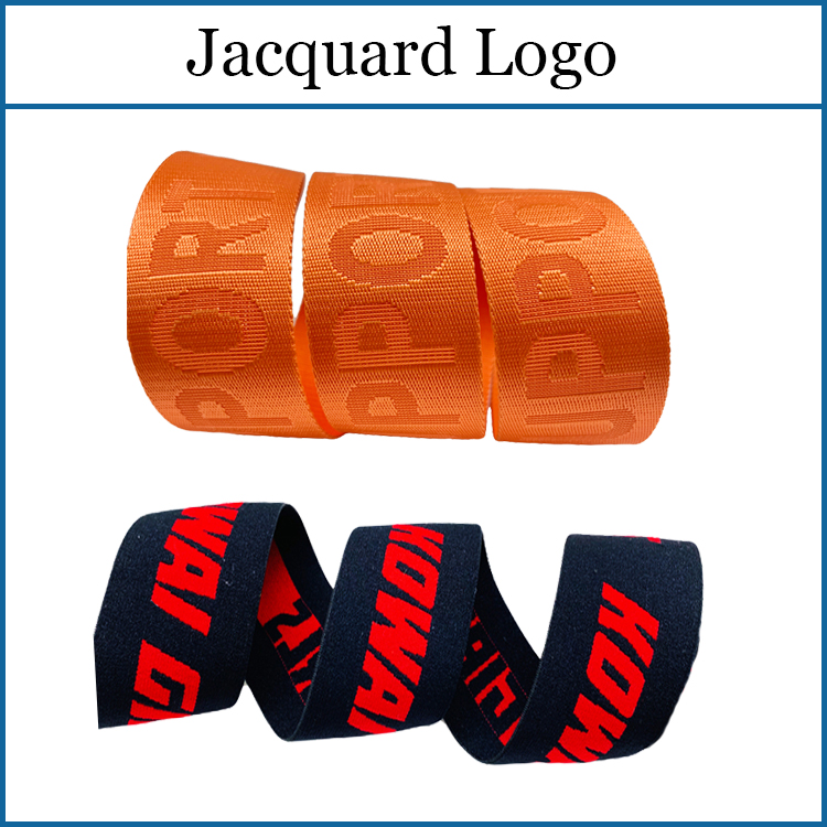 Wholesale 4CM Custom Personalised Printed Branded Pattern Plush Jacquard Soft Nylon Elastic Webbing Underwear Waistband