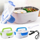 110V/12V Portable Food Warmer Food Heater with Removable Stainless Steel Container Electric Lunch Box for Car and Home