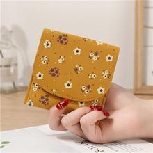 Женский бумажник с отделениями для карт из искусственной кожи с милым цветком/отделением для кредитных карт Чехол черный/желтый/серый/сини...(Китай)
