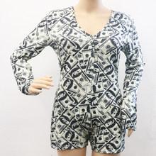 Женские Эластичные сексуальные пижамы для взрослых размера плюс боди с пуговицами трико короткие пижамы комбинезон комбинезоны Вечерние(Китай)