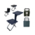 Cloudy outdoor Steel Folding Study Table and Chair Set