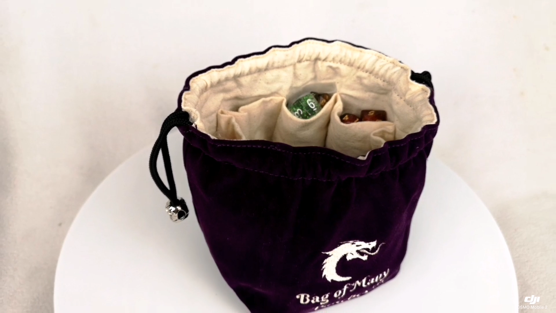 China Factory Competitive Price Free Standing Custom  Drawstring Dice Bag