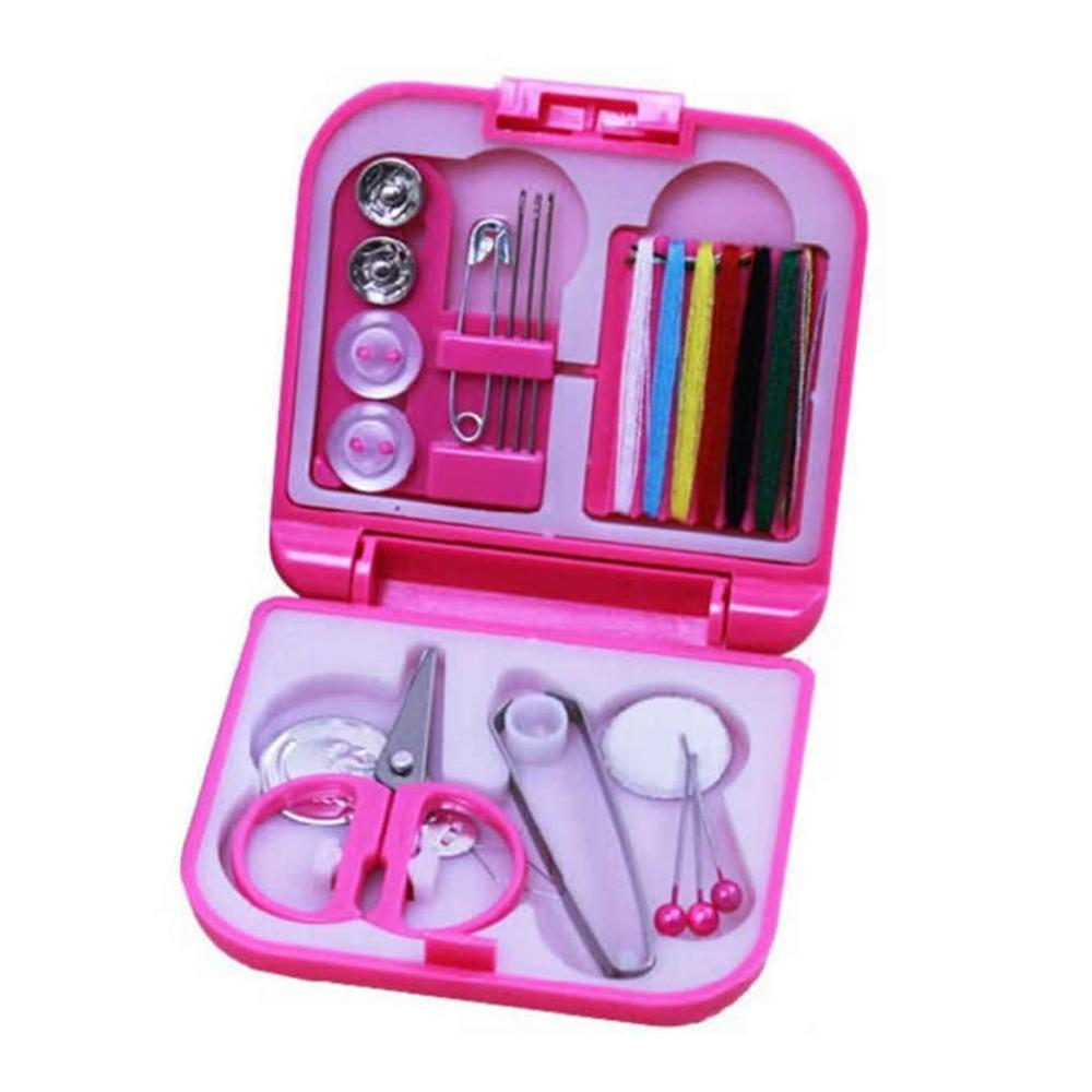 Portable Home Travel Plastic Sewing Kits Sewing Needles Threads Box Set Storage Box Sewing Tools