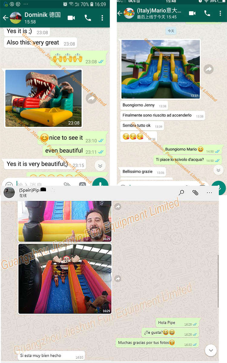inflatable slides feedback