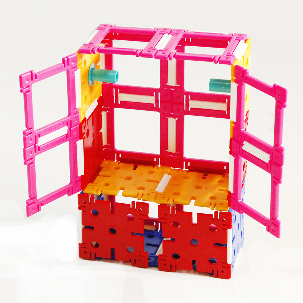 Diy Kids Bouw Cube Plastic Digitale Mini Bouwsteen