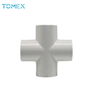 China manufacturer factory price plumbing materials product 2 inch pvc cross joint pipe fitting clamp