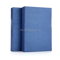 blue paper magnetic gift box phone case book style box